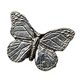 Creative Pewter Designs, Pewter Monarch Butterfly Lapel Pin Brooch, Antiqued Finish, A040