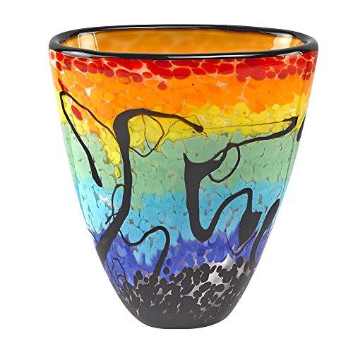 Murano Style Mouth Blown Art Glass Allura Multicolor 7