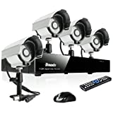 Zmodo 4CH H.264 Video DVR Security Surveillance Camera System With 4 Outdoor Night Vision IR Security Camera Without HD, Best Gadgets