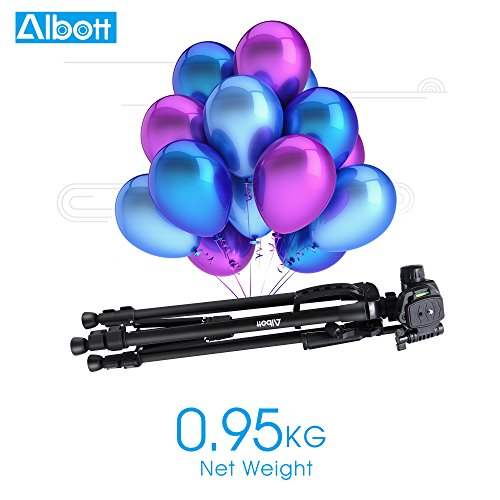 Albott Camera Tripod,55 inch Aluminum DSLR Tripod with Phone Stand for Canon,Nikon,Sony,Samsung,Olympus Camera and Phone by Albott