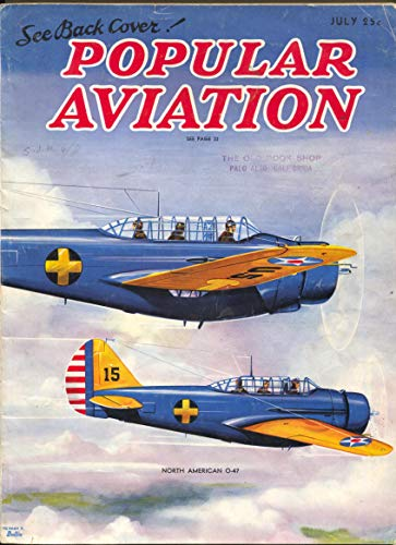 (Popular Aviation 7/1937-H.R. Bollin-North American O-47 plane-China)