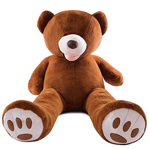 AMIRA TOYS ぬいぐるみ 特大 クマ くま テディベア 大きい 動物 抱き枕 キャラクター INS人気 お誕生日プレゼント インテリア 熊縫い包み 置物 店飾り 3色選択 250cm ダークブラウン B01J5E796E  ダークブラウン