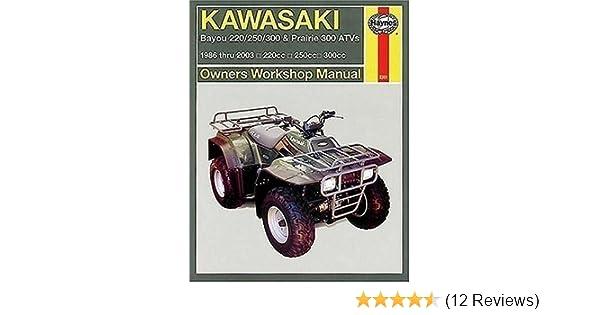 Kawasaki Bayou 220/250/300 & Prairie 300 ATVs 1986-2003 Books ...