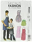 McCall's Patterns M5551 Misses'/ Men's/ Children's/ Boys'/ Girls' Aprons, All Sizes
