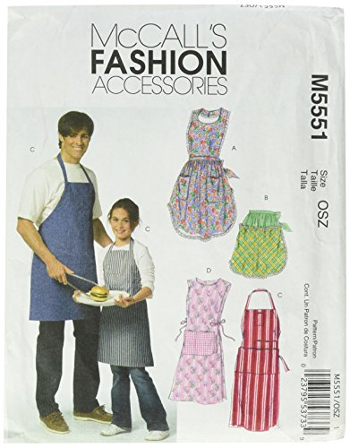 Misses Pattern Aprons (McCall's Patterns M5551OSZ Misses'/ Men's/Children's/Boys'/ Girls' Aprons)
