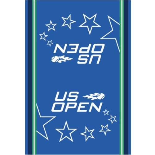 Wilson Sporting Goods US Open Authentic On-Court Tennis Towel, Blue/Green