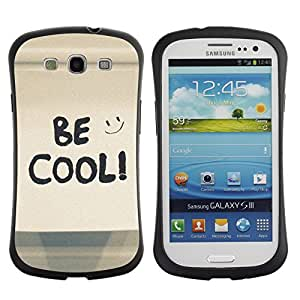LASTONE PHONE CASE / Suave Silicona Caso Carcasa de Caucho Funda para Samsung Galaxy S3 I9300 / Be Cool Happy Smiley