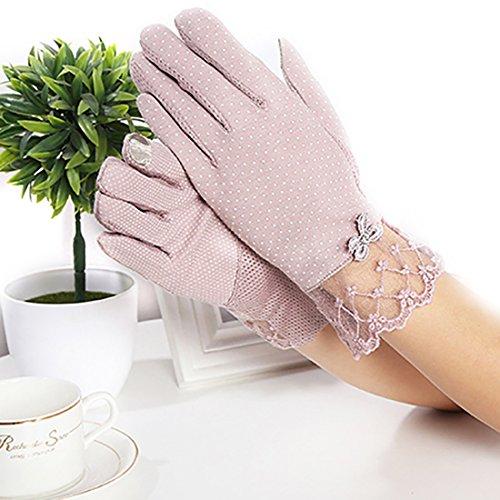 したがって立場アベニューURSFUR 紫外線をしっかりガード!!清涼メッシュ UVカット 日焼け止め手袋 UVカット 手袋 ショート グローブ 薄手 メッシュ 清涼 レース花柄 滑止め付 女性 レディース