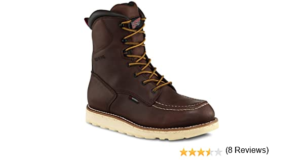Amazon.com | Red Wing 411 Men's 8-inch Waterproof Brown Boot (14EE ...