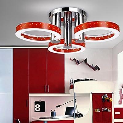 Gracelove European Modern LED Red Ceiling Pendant Lamp Acrylic Chandelier Embedded Lamp Light