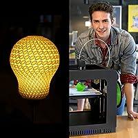 Melca 1.75 3D Printer Filament PLA 1kg +/- 0.03mm, Black 1.75mm by Melca