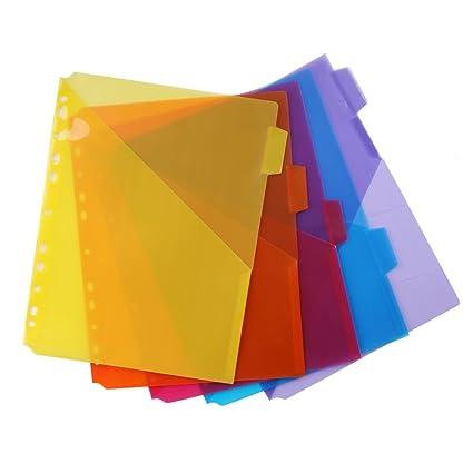Amazon.com : Eagle Pocket Plastic Divider, 5 Multi-color Tabs, Built ...