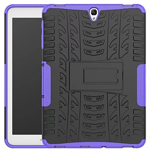 Price comparison product image Galaxy Tab S3 9.7 Case,DAMONDY Shockproof Hybrid Tough Rugged Dual Layer Defender Full Body Protective Tablet Case Cover with Kickstand for Samsung Galaxy Tab S3 9.7 SM-T820 -purple
