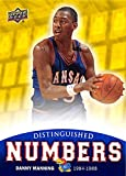 Danny Manning Basketball Card (Kansas Jayhawks, #25 Jersey) 2013 Upper Deck Distinguished Numbers #DN-9