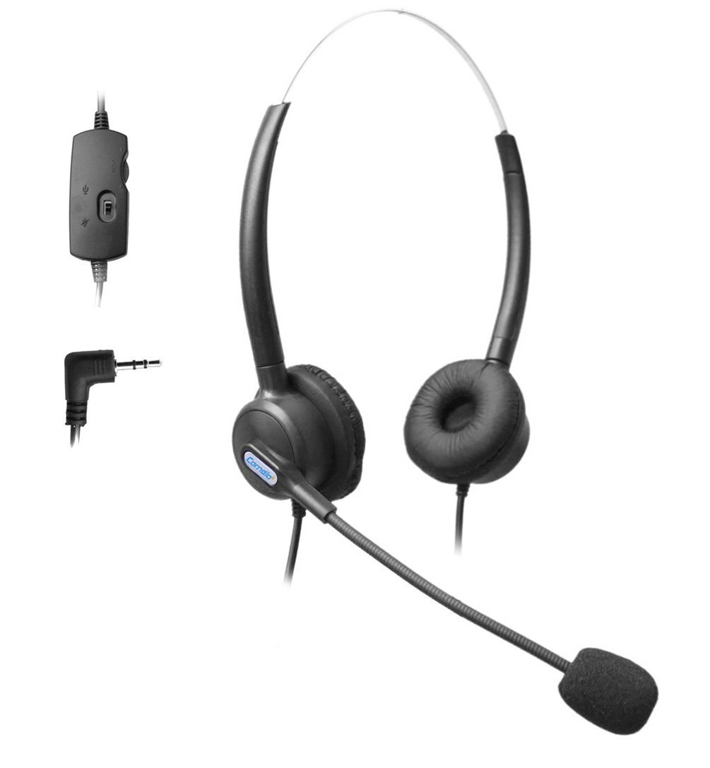 Comdio 2.5mm Call Center Telephone Headset Headphone with Mic + Volume Mute Controls for Cisco Linksys SPA SPA921 SPA922 SPA941 SPA942 SPA962 303 501G 502G 504G 508G 509G 525G IP Phones (H203VP1)
