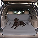 K&H Pet Products Bolster Cargo Cover Gray - Protects Cargo Area of Your Vehicle from Pet Hair, Dirt, Scratches and More - Bolster Pillows for Comfort