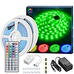 MINGER LED Light Strip, Light Your Wonderful Life  Application It can be changed the color via the controller. A lot of color option,very suitable for indoor lighting and decor. Such as kitchen, under cabinet, dining room, bedroom, party, wed...
