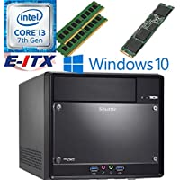 Shuttle SH110R4 Intel Core i3-7100 (Kaby Lake) XPC Cube System , 8GB Dual Channel DDR4, 240GB M.2 SSD, DVD RW, WiFi, Bluetooth, Window 10 Pro Installed & Configured by E-ITX