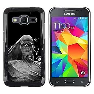 """Pulsar Snap-on Series Teléfono Carcasa Funda Case Caso para Samsung Galaxy Core Prime / SM-G360 , Escultura Significado Profundo Scull metal"""""""