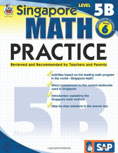 Singapore Math Practice, Level 5B, Grade 6From Frank Schaffer