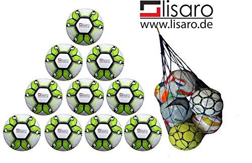 Lisaro Toplight - Bolsa de balones de fútbol (10 unidades, tamaño 5, 290 g)