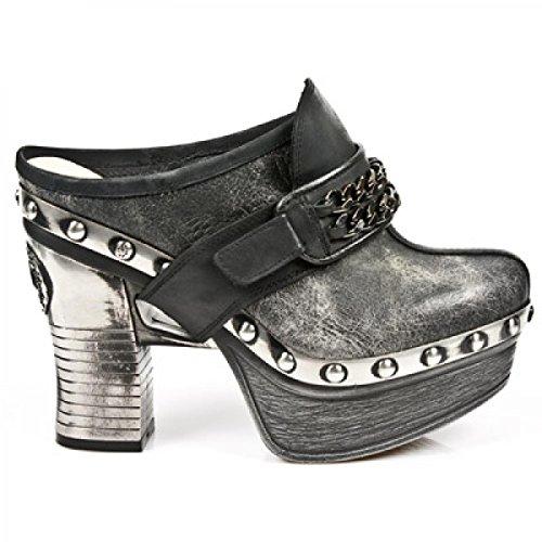 New Rock Boots M.z002-c5 Elegante Urbano Damen Sneeker Schwarz
