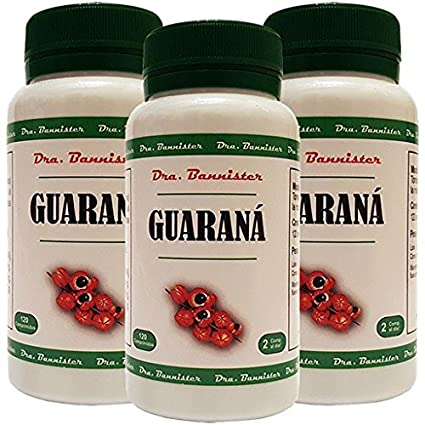 GUARANÁ 600 mg. 3 x 120 comprimidos. Dra. BANNISTER: Amazon ...
