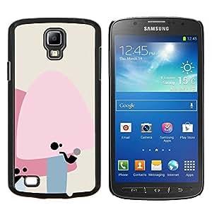 Qstar Arte & diseño plástico duro Fundas Cover Cubre Hard Case Cover para Samsung Galaxy S4 Active i9295 (Setas lindas del bigote)
