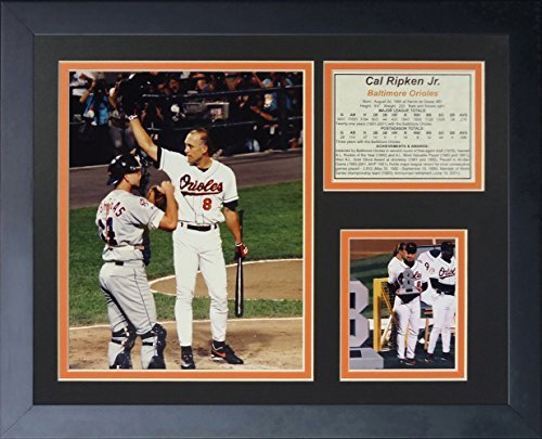 "Legenden Sterben Nie ""Cal Ripken Retirement"" gerahmtes Foto Collage, 11 x 35,6 cm von Legends Never Die"