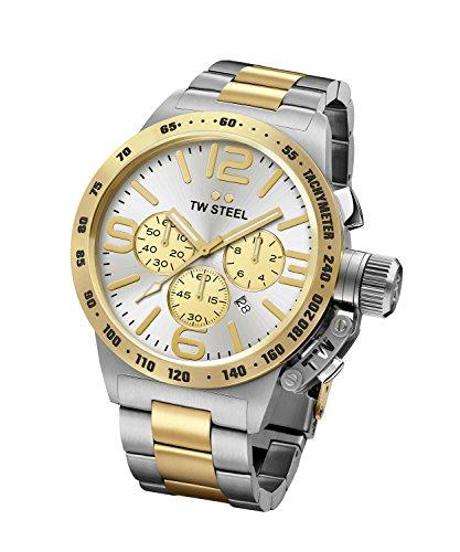 Men's TW Steel Canteen Bracelet Two-Tone Chronograph Watch