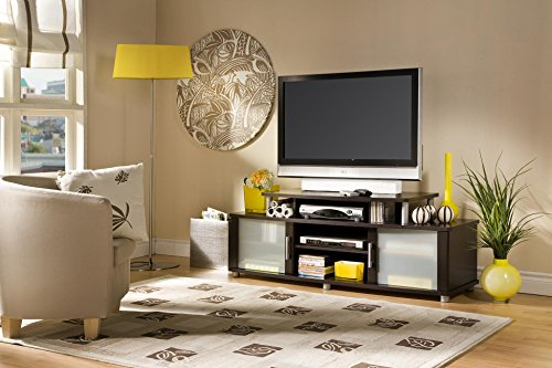 South Shore Furniture City Life Collection TV Stand, (Frosted Glass Tv Stand)