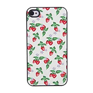Graceful shield Case with Small Strawberries tone for iPhone 4 4S
