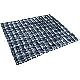 anaterra Decke Picknickdecke 200 x 150 cm / gefüllt / wasserabweisende Unterseite