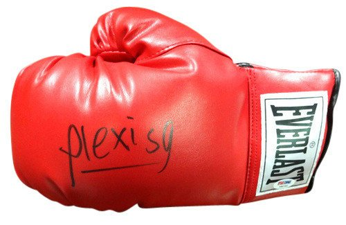Alexis Arguello Signed Red Everlast Boxing Glove LH - PSA/DNA Authentication - Boxing Memorabilia