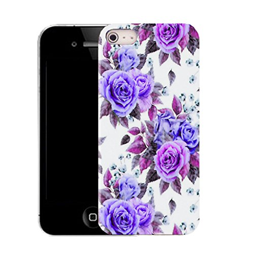Mobile Case Mate IPhone 5S clip on Silicone Coque couverture case cover Pare-chocs + STYLET - soft carnation pattern (SILICON)