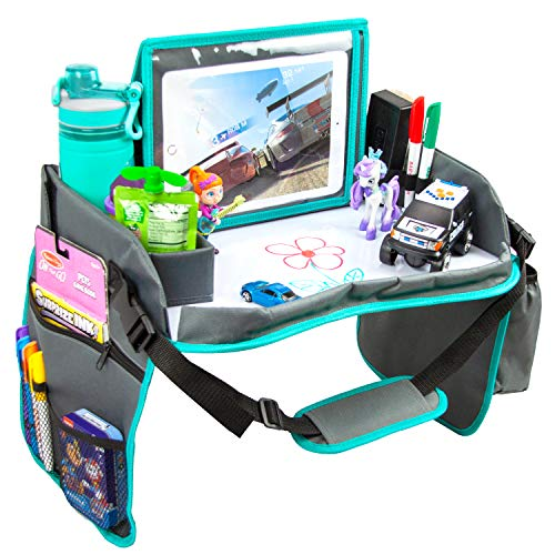 Check Out This Kids Travel Tray with Dry Erase Board, Car Seat Lap for Food & Play Activity, Carseat...