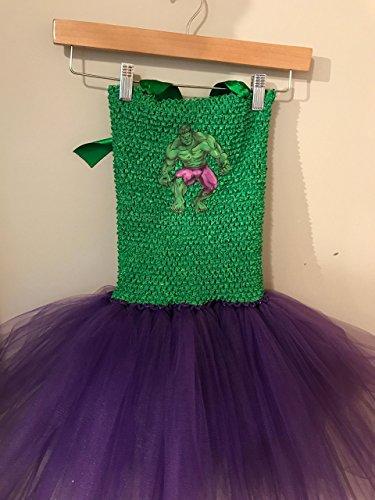 Marvel Incredible Hulk Smash Child Kids Tutu Dress Up (3T - 5Y) by Hummingbird Tutus