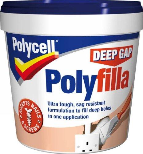 Polycell Ready Mixed Tub Deep Gap Polyfilla, 1 L - White AkzoNobel 20207