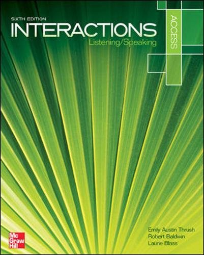 Interactions Access Listening/Speaking Student Book (ESL Domestic)