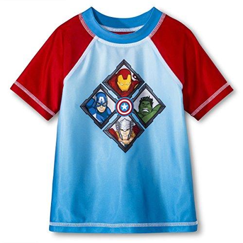 Marvel Little Boys' Avengers Rash Guard (2T)