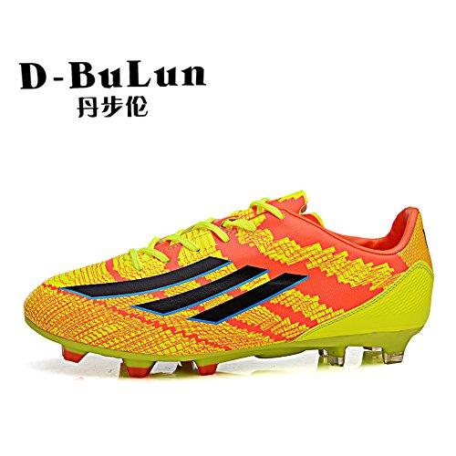 Xing Lin Botas De Fútbol Los Adolescentes Pegamento De Uñas Zapatos De Fútbol Zapatos De Fútbol Antideslizante Orange red