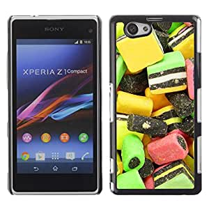 LECELL -- Funda protectora / Cubierta / Piel For Sony Xperia Z1 Compact D5503 -- Design Candy Macro --