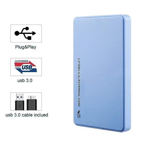 ZYLFN Unidad móvil Externa USB 3.0, Disco Duro Externo HDD/SSD de ...