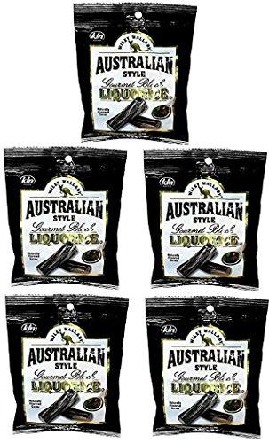 4 oz -Black Licorice - Australian Style - Made in USA (5 (Style Black Licorice)