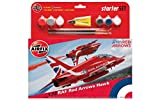 Airfix A55202B RAF Red Arrows Hawk Military Plastic Model Kit Gift Set (1:72 Scale)