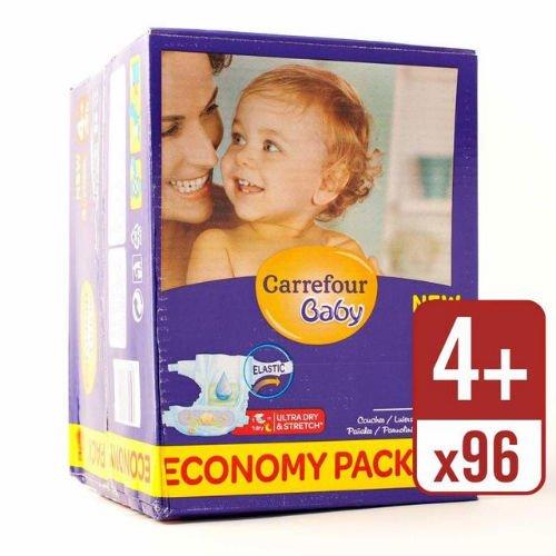 Carrefour bébé Ultra Dry couches Taille 4 + économie Boîte de 96 couches: Amazon.es: Bebé
