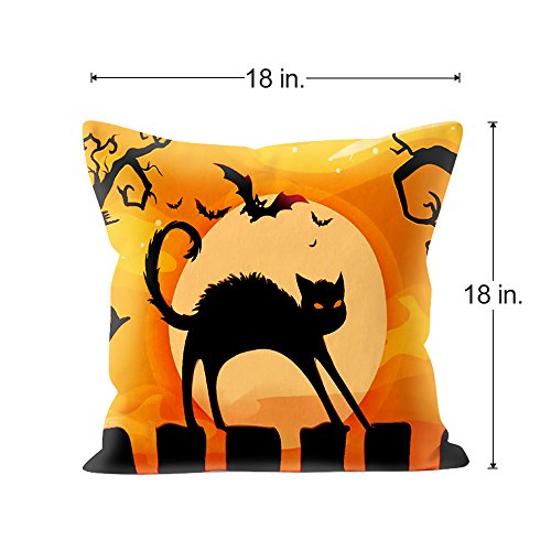 40 Packs Halloween Pillows Cover Decorations Pumpkin Bat Goast Cat Simple Halloween Pillows Decorations