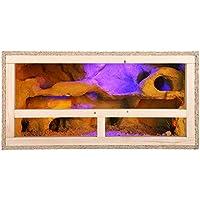 Terrario: madera Terrario para Reptiles página ventilación para serpientes y lagartos 60 cm x 30 cm x 30 cm alta calidad…