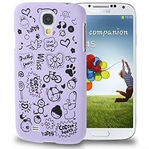 Magic Girl Pattern Case Funda Frosted Plastic Carcasa para Samsung Galaxy S4 i9500/Purple ()