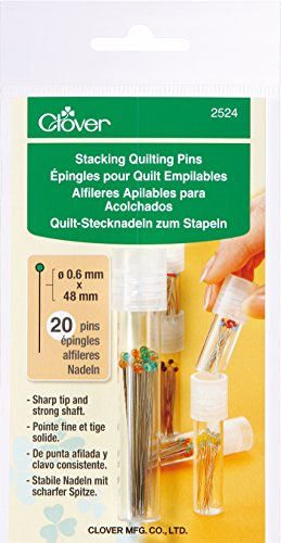 CLOVER 2524 Stacking Quilting Pins, 20 Pins Included